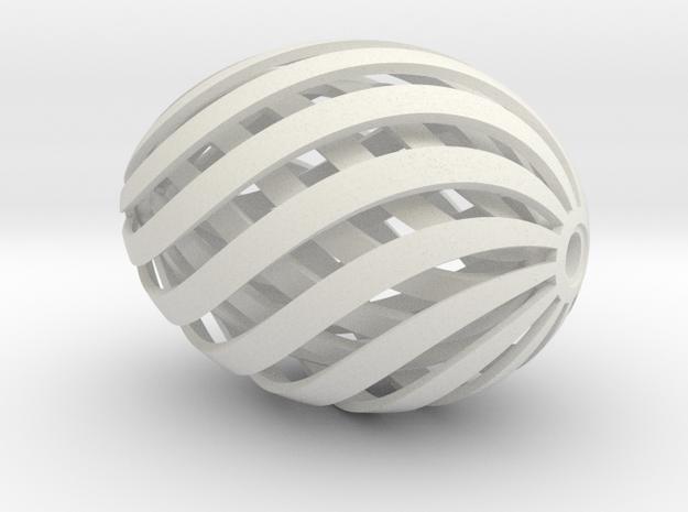Egg Spiral V3 Thicker Innner Egg in White Strong & Flexible