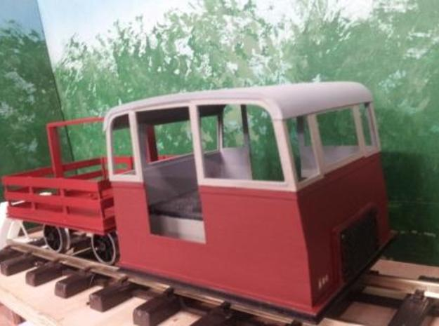 Victorian Railways narrow gauge Whitfield Trolley  3d printed Whitfield Trolley NK1 and trailer