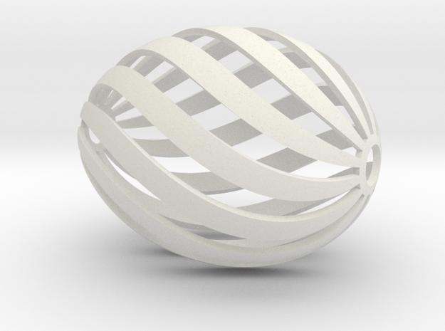 Egg Spiral in White Strong & Flexible