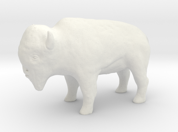 Miniature Bison in White Strong & Flexible