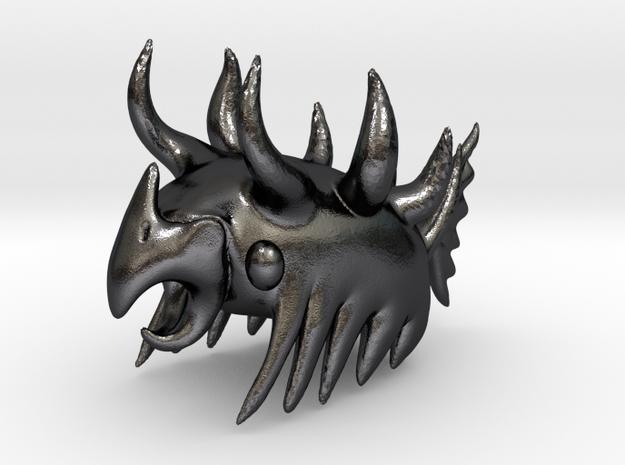 Parrug Comb / Head Scratcher in Polished and Bronzed Black Steel