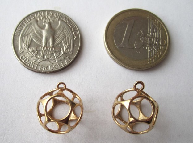 New Dod Earrings 3d printed with coins for scale