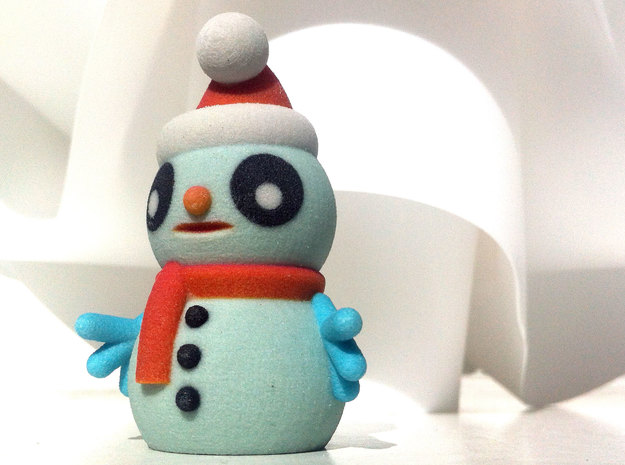 SNOWMAN B in Full Color Sandstone