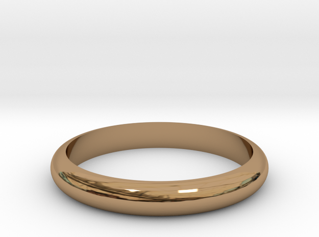 Ring 18mm in Polished Brass