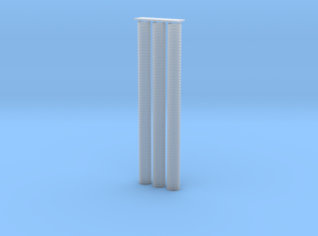 """'N Scale' - (3) 24"""" x 30' Culvert Pipe in Smooth Fine Detail Plastic"""