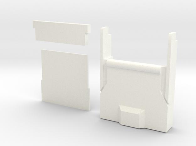 Magnoli Finn Zip Pull in White Processed Versatile Plastic