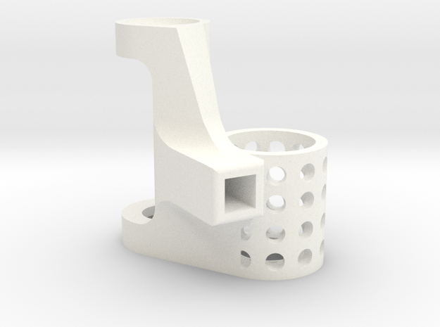 4mm Motor Mount A in White Strong & Flexible Polished