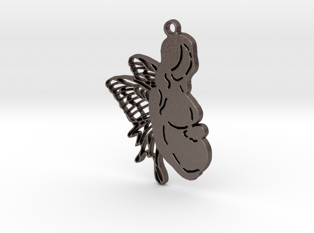 Creator Pendant in Polished Bronzed Silver Steel