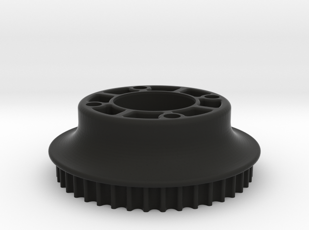 M3R16 Rear Pulley (42 Teeth) Inc. 5mm Offset in Black Strong & Flexible