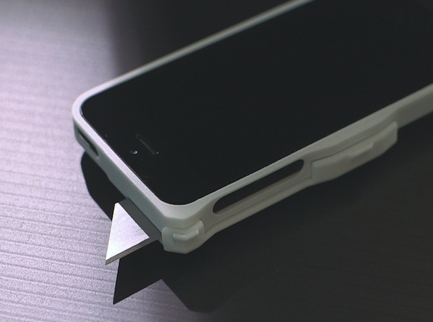 Utility Blade Case for iPhone 5 3d printed Standard replaceable blades.