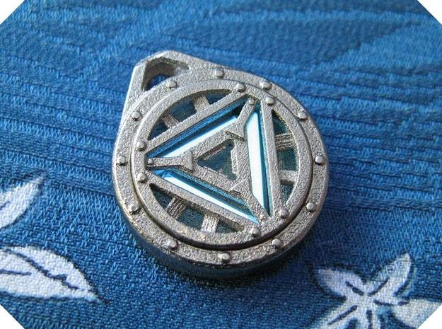 Arc Reactor Pendant: Tritium (Stainless Steel) in Polished Nickel Steel