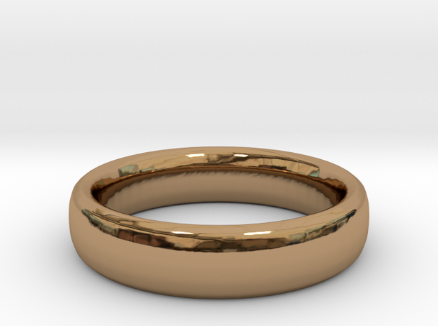 Simple Ring (Size 7) in Polished Brass