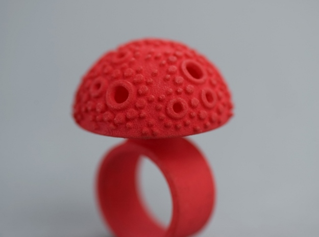 Textured Dome Ring - size M 3d printed