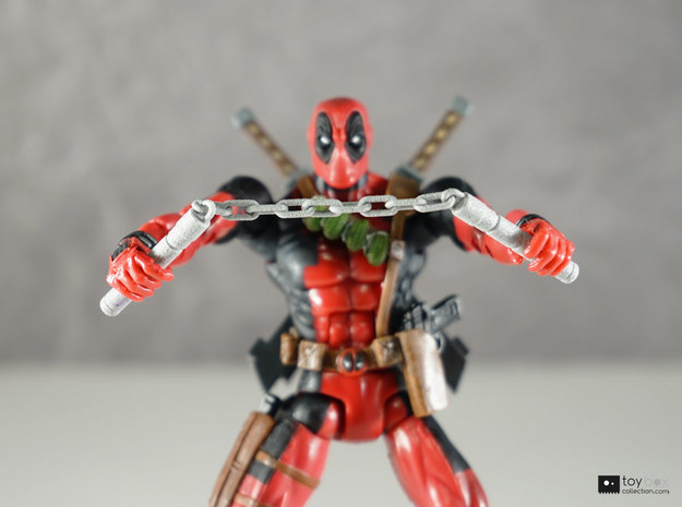 1:12 Nunchucks for Marvel Legends Deadpool