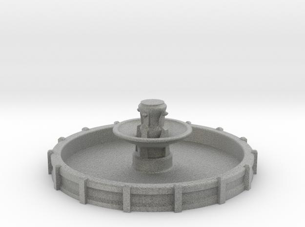 Large N/OO Scale Fountain in Metallic Plastic: 1:160 - N