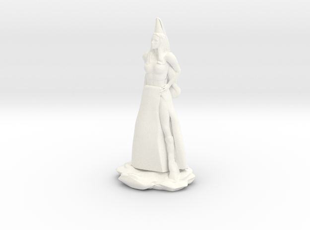 Fanstasy Princess with Hennin hat in White Processed Versatile Plastic