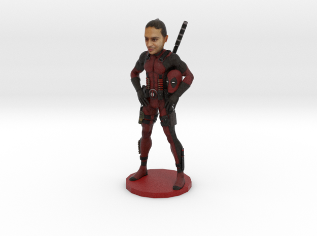 Your Minifigure as Deadpool in Full Color Sandstone