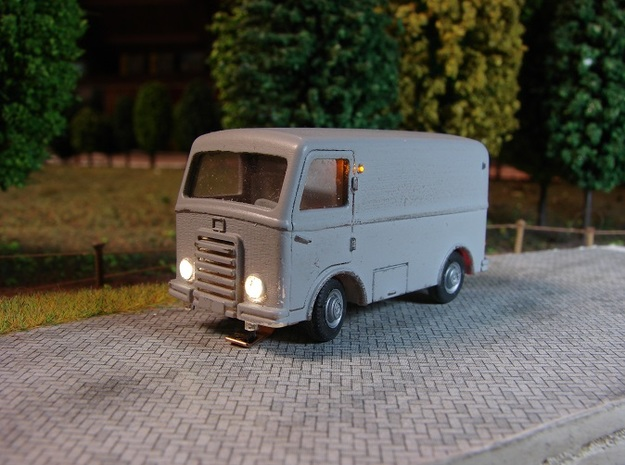 DAF A10 body 3d printed Front of DAF A10 DC-car completed (company MinituurA)