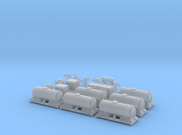 FEA-B Rail Head Treatment Train Three Wagon Set in Smooth Fine Detail Plastic