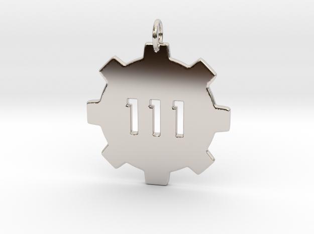vault 111 pendant  in Platinum