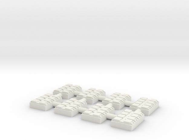 1/500 8 Cell Mk 41 VLS (x8) in White Natural Versatile Plastic