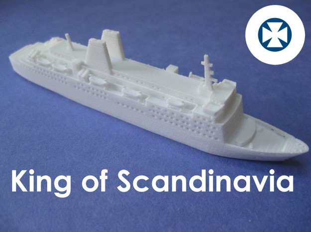 MS King Of Scandinavia (1:1200) 3d printed Photograph shows model of Dana Gloria