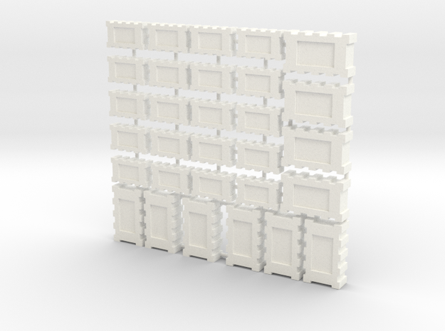 Falcon Main Hold Floor  Boxes 4X5 Small & 10 Larg  in White Processed Versatile Plastic