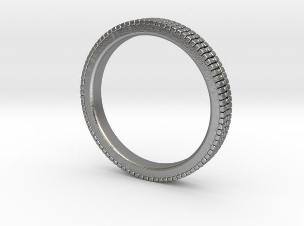 Ø19.39 mm Glitter Ring/Ø0.763 inch in Natural Silver