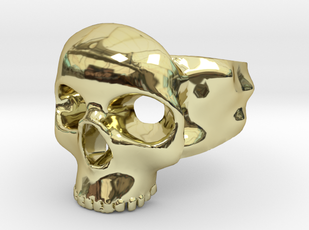 Skull Ring in 18k Gold Plated