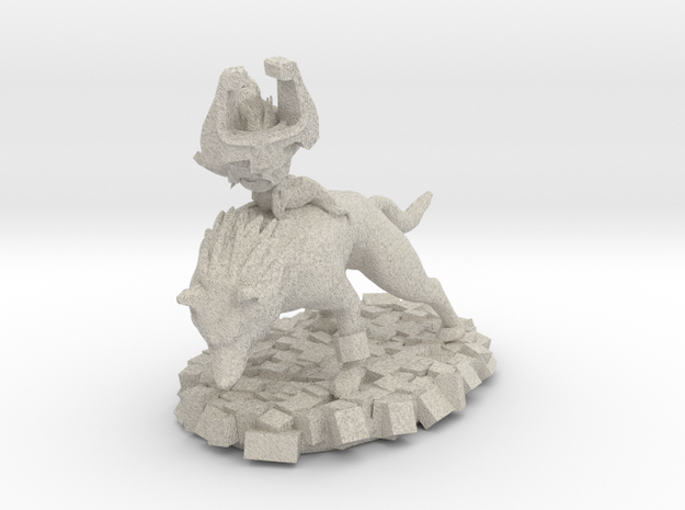 Wolf Link and Imp Midna in Natural Sandstone