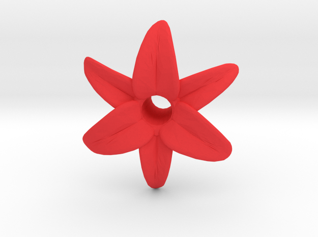 Lily Blossom (hollow) in Red Processed Versatile Plastic