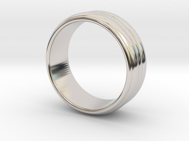 Ø16.51 Mm Ring Ø 0.650 Inch Model B in Rhodium Plated Brass