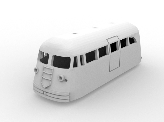 NSWR First  Series FP1(HO/1:87 Scale) in White Natural Versatile Plastic