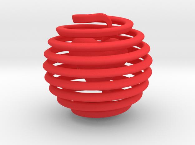 Heart in Locker in Red Processed Versatile Plastic