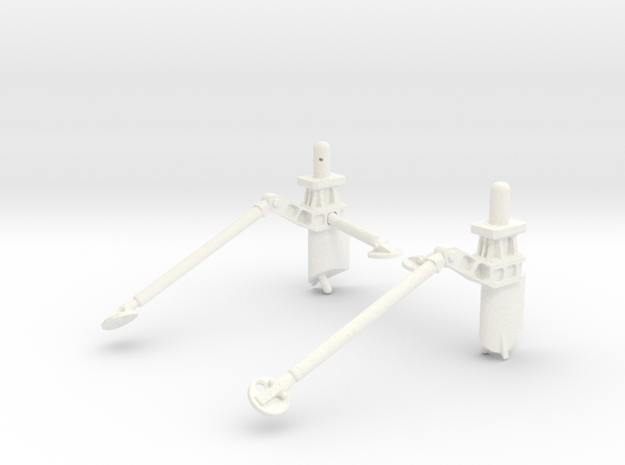 3D SCA Shuttle Mount in White Processed Versatile Plastic