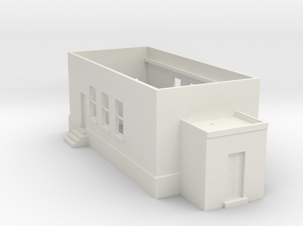 Tower 107 Ground Level (HO 1:87) in White Strong & Flexible