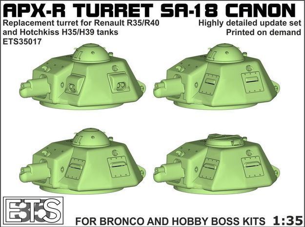 ETS35017 - APX-R turret with SA18 gun [1:35] in Smooth Fine Detail Plastic