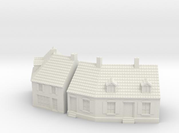 1:285 Cornerhouse 3-4 in White Natural Versatile Plastic