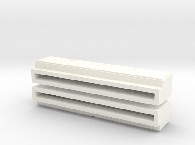 """1/64 Side Tool Box - 1.35"""" long in White Processed Versatile Plastic"""