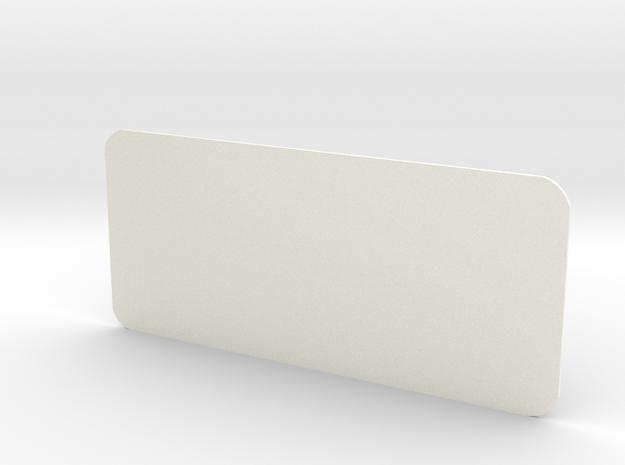 Closed Rear Side Window Left D90 D110 Gelande 1:10 in White Strong & Flexible Polished