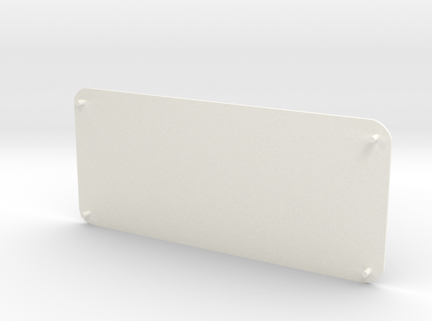 Closed Rear Side Window Right D90 D110 Gelande 1:1 in White Strong & Flexible Polished