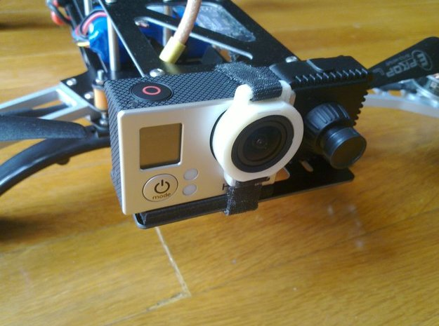 GoPro Hero 3 lens mount 3d printed
