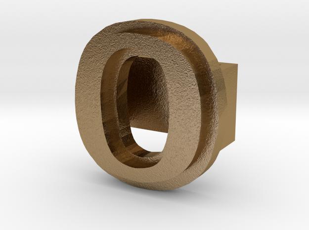 BandBit O for Fitbit Flex in Polished Gold Steel
