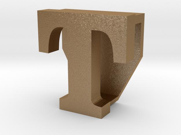 BandBit T2, Fitbit Flex (Fits parallel to strap.) in Matte Gold Steel
