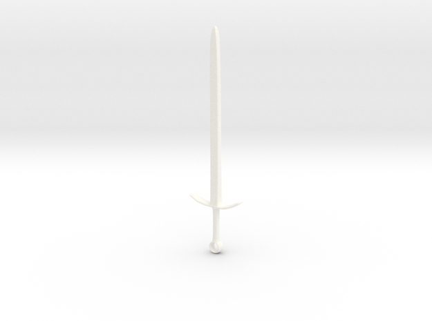 """Sword"" - Monopoly Figure in White Strong & Flexible Polished"