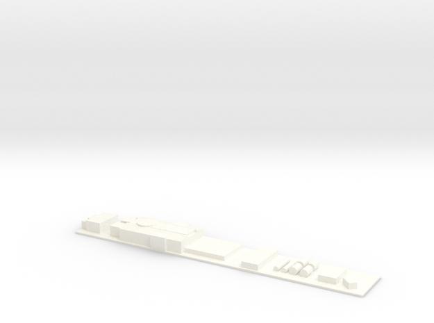GTW Scale TT Dach in White Processed Versatile Plastic