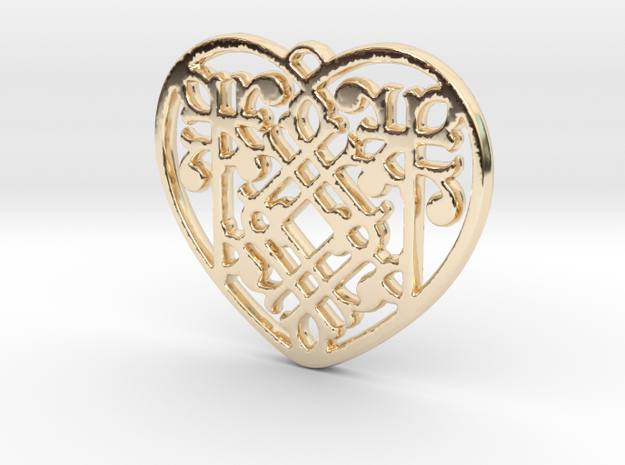 Victorian Heart in 14K Gold