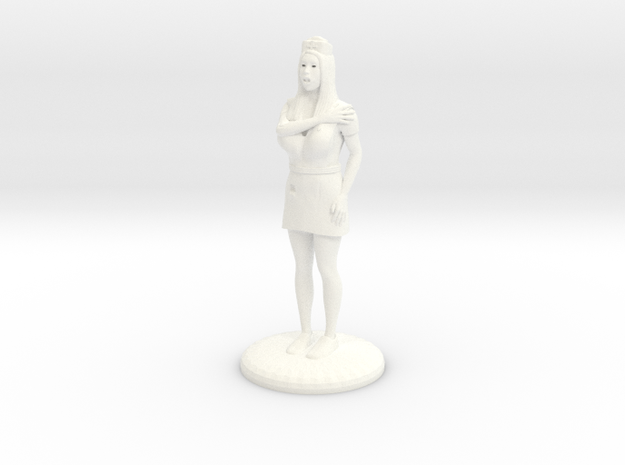 Terrrified Nurse 25 mm in White Processed Versatile Plastic