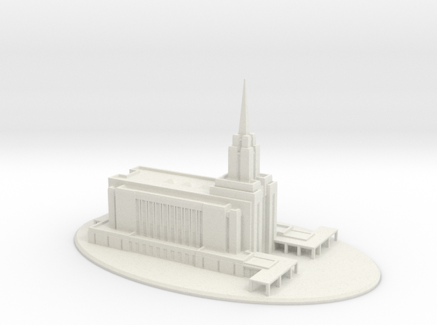 Wedding Topper, LDS Oquirrh Mountain, Utah Temple 3d printed