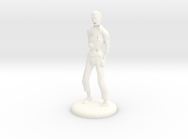 Zombie - 28mm in White Processed Versatile Plastic